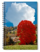 Red Maple White Cloud Spiral Notebook