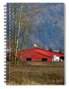 Red Matsqui Barn Spiral Notebook