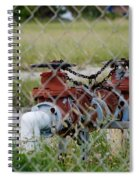 Red Mechanical Valves Spiral Notebook