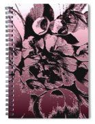 Red Metallic Dahlia Named Who Dun It Spiral Notebook