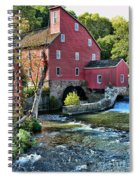 Red Mill On The Water Spiral Notebook