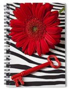 Red Mum And Red Key Spiral Notebook