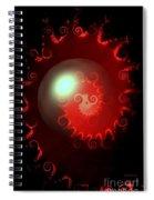 Red Nautilus Spiral Notebook