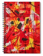 Red Orange Abstract Spiral Notebook