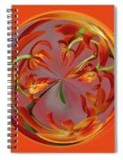 Red Orange Orchid Orb Spiral Notebook
