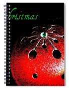Red Ornament Spiral Notebook