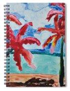 Red Palms Spiral Notebook