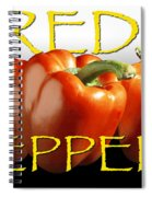 Red Peppers On White And Black Spiral Notebook