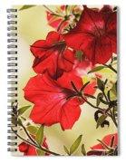 Red Petunias Spiral Notebook