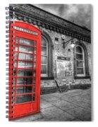 Red Phone Box Spiral Notebook