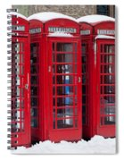 Red Phone Boxes Spiral Notebook