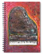 Red Piano Spiral Notebook
