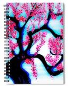 Red Plum Oriental Influence Spiral Notebook