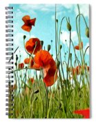 Red Poppy Flowers 03 Spiral Notebook