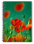 Red Poppy Flowers 07 Spiral Notebook