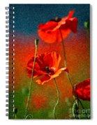 Red Poppy Flowers 08 Spiral Notebook