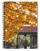 Red Railroad Trestle Spiral Notebook