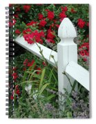 Red Rhododendron And White Post Spiral Notebook