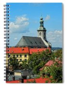 Red Roofed Wonders Spiral Notebook