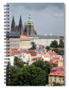 Red Rooftops Of Prague Spiral Notebook
