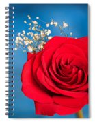 Red Rose And Baby Breath Spiral Notebook