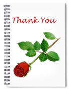 Red Rose Thank You Card Spiral Notebook