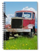 Red Rusted Semi Spiral Notebook