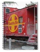 Red Sante Fe Caboose Train . 7d10325 Spiral Notebook
