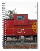 Red Sante Fe Caboose Train . 7d10328 Spiral Notebook