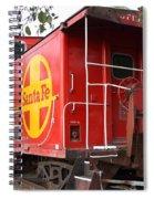 Red Sante Fe Caboose Train . 7d10332 Spiral Notebook
