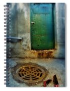 Red Shoes By Green Door Spiral Notebook
