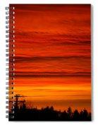 Red Skies At Night Spiral Notebook