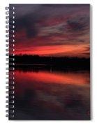 Red Sky Sunset Spiral Notebook