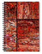 Red Splashes Swishes And Swirls - Abstract Art Spiral Notebook
