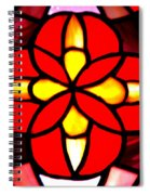 Red Stained Glass Spiral Notebook