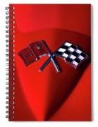 Red Stingray Badge Spiral Notebook