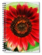 Red Sun Flower Spiral Notebook