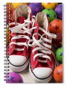 Red Tennis Shoes And Balls Spiral Notebook