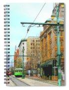 Red Trolley Green Trolley Spiral Notebook