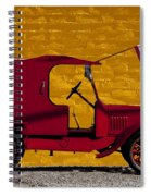 Red Truck Against Yellow Wall Spiral Notebook