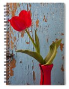Red Tulip Bending Spiral Notebook