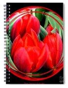 Red Tulips Under Glass Spiral Notebook