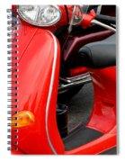 Red Vespa Vintage Scooter Motorcycle Spiral Notebook