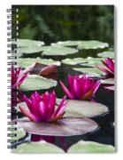 Red Water Lillies Spiral Notebook