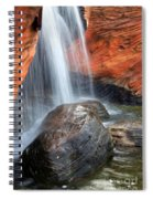 Red Waterfall Spiral Notebook