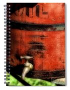 Red Weathered Wooden Bucket Spiral Notebook
