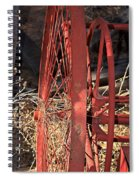 Red Wheel Spiral Notebook