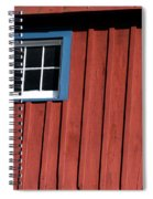 Red White And Blue Window Spiral Notebook