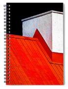 Red White Black Spiral Notebook