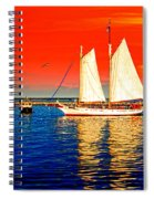 Red White Blue Cape Cod Will Do Spiral Notebook